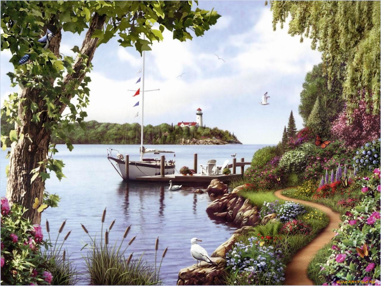 Картинка тихая пристань